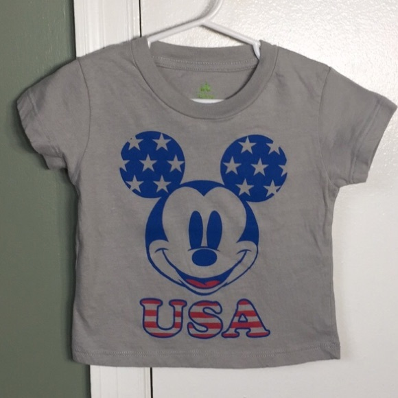98441e8b0 Disney Shirts & Tops | Baby 24 Month Usa Mickey Mouse Short Sleeve ...